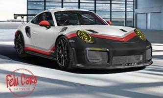 2018 porsche 911 gt2 rs rendered in 911 rsr livery looks brutal