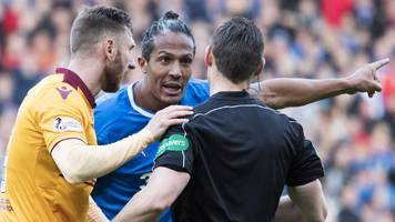 'it's not football' - rangers' bruno alves unhappy with referee steven mclean