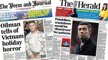 Scotland's papers: Scot's Vietnam 'holiday horror'