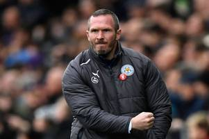 michael appleton expected to take charge of leicester city game against leeds in carabao cup