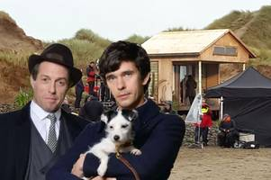 a hugh grant bbc series is filming right now in devon
