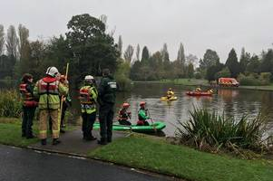 Emergency services at scene of Stoke-on-Trent park after reports of 'body seen in lake'