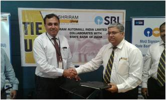 shriram automall inks tie-up with state bank of india for its sme segment