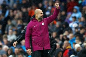 manchester city boss pep guardiola laughs off suggestions his team will go unbeaten this season
