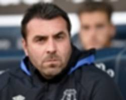 unsworth to take charge of everton for chelsea efl cup trip