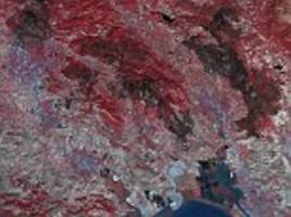 nasa image of scars left by california's wildfires