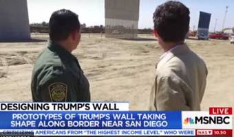 msnbc catches illegals jumping border fence with mexico as it reports on trump's wall