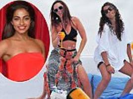 doctor who star mandip gill parties with jennifer metcalfe