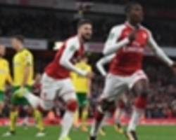 'he smells the right movements' – wenger praises arsenal's nketiah for decisive double