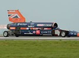 british car designed to reach 1,000mph tested in newquay