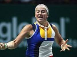 jelena ostapenko bows out of wta finals in style