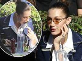 bella hadid swaps her favourite meaty treat for a salad