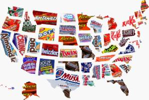 the most popular halloween candy in every us state