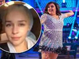 emilia clarke wishes susan calman good luck on strictly