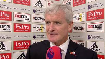 watford 0-1 stoke darren fletcher winner straight off the training ground - hughes