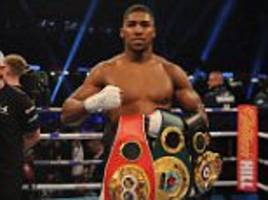celebrities turn out for anthony joshua