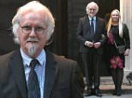 billy connolly joins pamela stephenson at downing street