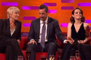 adam sandler touching claire foy's knee 'caused no offense,' she says