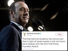international emmy award will no longer honor kevin spacey