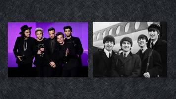 niall horan helped one direction tie a record the beatles set