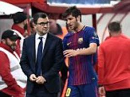 barcelona suffer injury blows in roberto and gomes