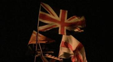 union flags set alight on halloween pyre in strabane