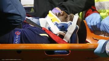 cuco martina: everton defender leaves hospital after suffering neck injury in lyon defeat