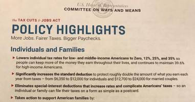 GOP Tax Plan Talking Point Highlights Released