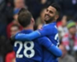 leicester city's mahrez delighted with stoke city goal