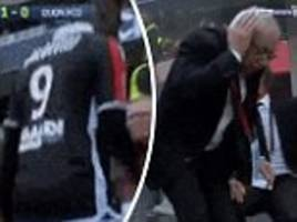mario balotelli scores winner, sent off and punches dugout