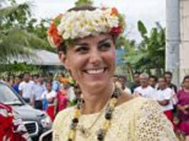 duchess of cambridge gets her first gong from tuvalu