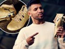 man city's sergio aguero to wear gold boots in arsenal tie
