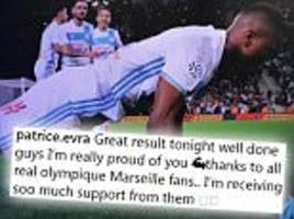 patrice evra thanks 'real' marseille fans after protests