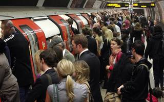 happy monday: rush-hour nightmare as 7 tube lines are suspended or delayed