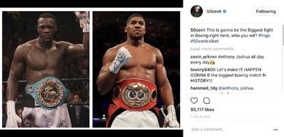 """50 cent says move over floyd mayweather: """"this is gonna be the biggest fight in boxing right here"""""""