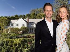 snap ceo evan speigel & his supermodel wife, miranda kerr, are worth $3.4 billion — see their houses, cars, and travels