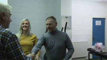 a former football manager meets the man who saved his life