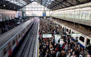 rush hour delays on london underground and train services