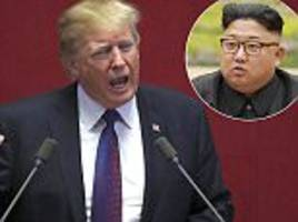 'do not try us!' trump warns n. korea over nuclear threat.