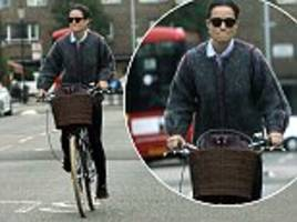 pippa middleton seen cycling through london