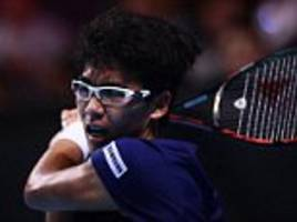 hyeon chung earns nextgen semi place with rublev shock