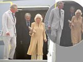 prince charles and camilla touch down in new delhi