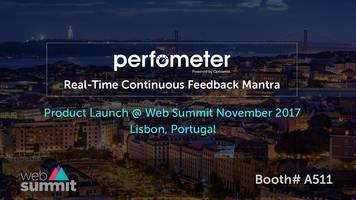 perfometer, a real-time continuous feedback mantra launched at the web summit in lisbon, portugal
