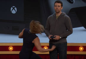 ronda rousey punches guy in the nuts during cringey xbox appearance