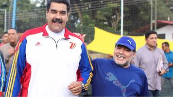 Maradona and Maduro in Venezuela kickabout