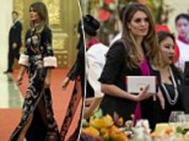 melania trump and hope hicks attend beijing state dinner