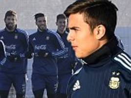 argentina training gets frosty welcome before russia test