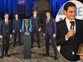 Roger Federer and Rafael Nadal attend ATP Finals launch
