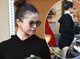 Selena Gomez flashes a hint of booty in shorts in LA