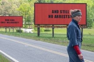 'three billboards outside ebbing, missouri' movie review: frances mcdormand is bloody funny